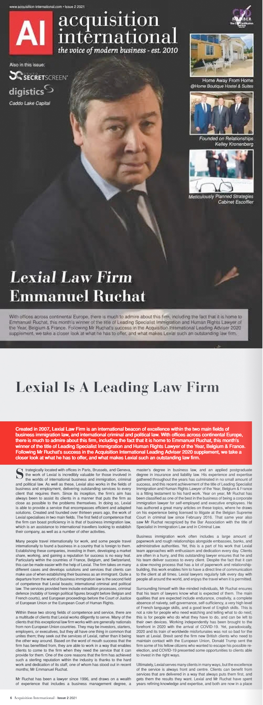 Lexial is a leading law firm by Acquisition International